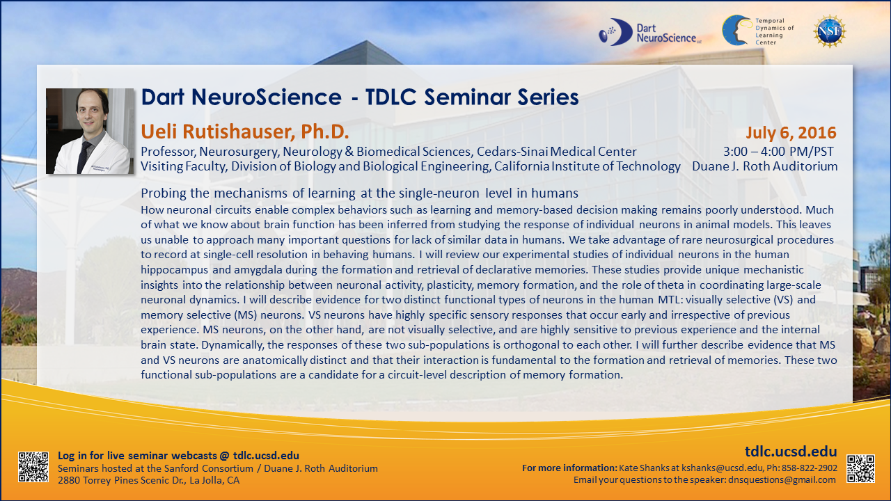 Dart NeuroScience - TDLC Seminar Series